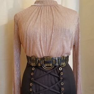 One pc dress with lace up skirt